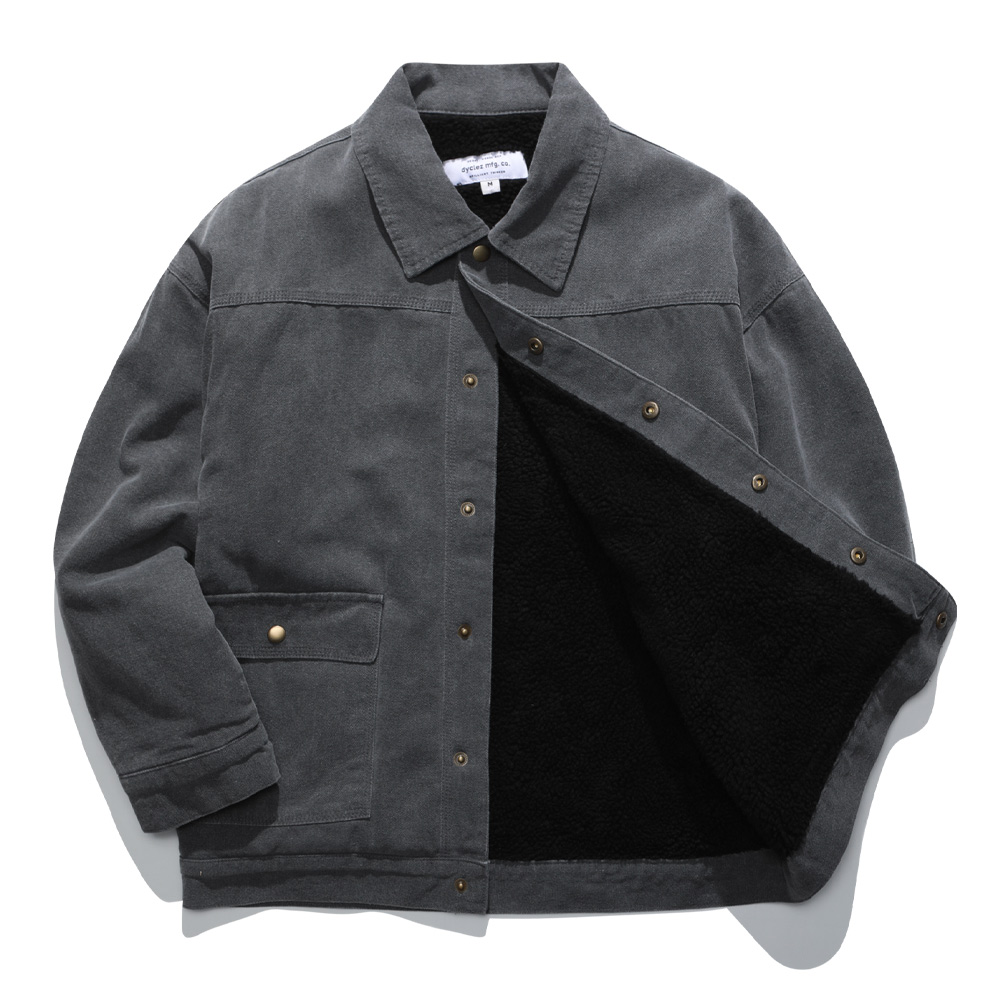 [다이클레즈] 커스텀 양털 자켓 차콜 KHOT5094