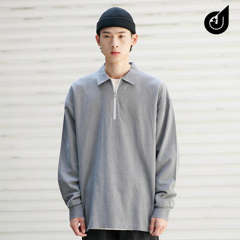 [다이클레즈] 와이지퍼카라 셔츠 차콜 KHLS5091