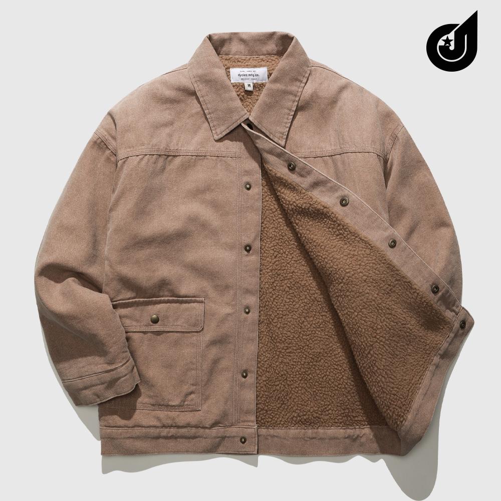 [다이클레즈] 커스텀 양털 자켓 베이지 KHOT5094