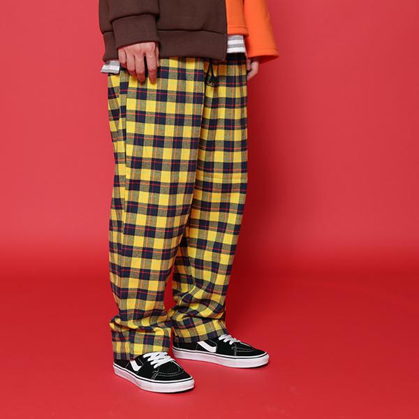 [단독벨트증정] (SALE) ROCKPSYCHO overfit check shirt / 락사이코 플란넬 체크셔츠-옐로우