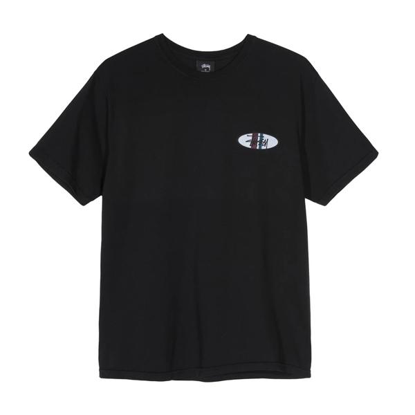[해외]스투시 TWO 타원 로고 티셔츠 블랙