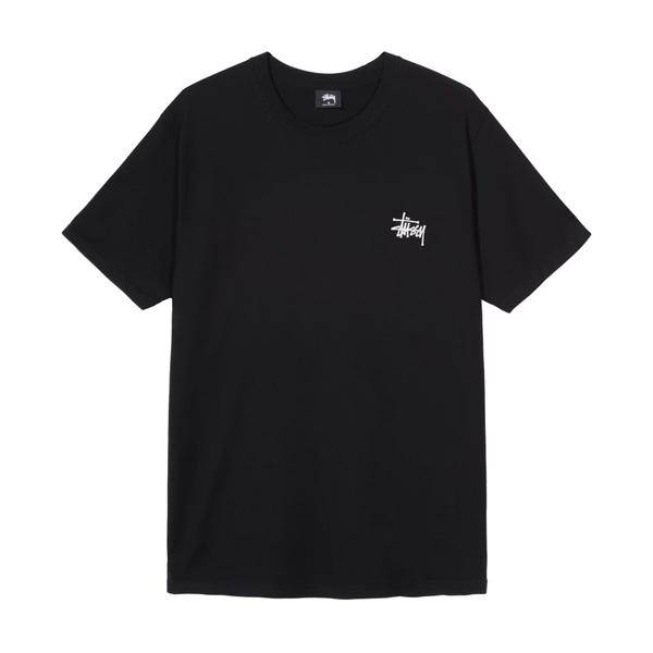 [해외]스투시 베이직 로고 반팔 티셔츠 블랙
