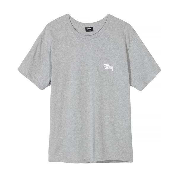 [해외]스투시 베이직 로고 반팔 티셔츠 그레이