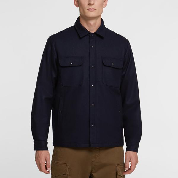 [해외]19FW 울리치 퀼트 오버 셔츠 WQ0011 멜턴 블루