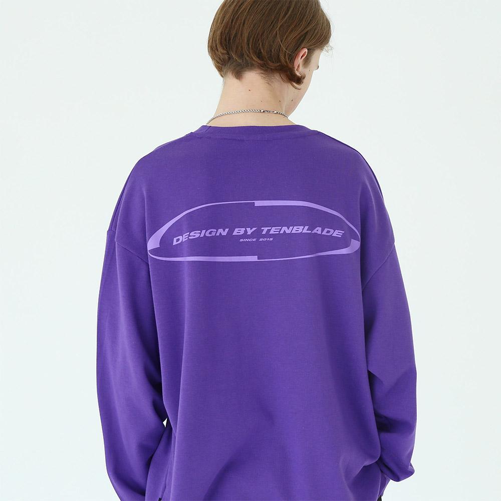 로테이션 긴팔 티셔츠 퍼플