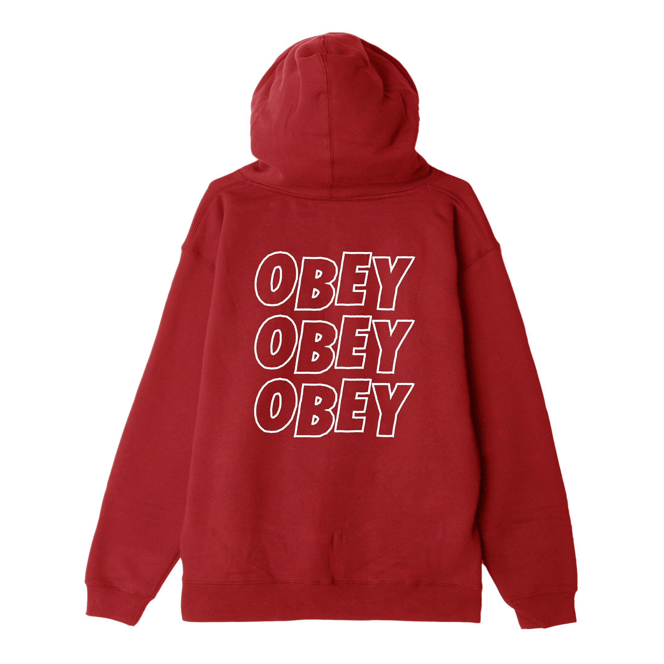 [단독할인]오베이 후드집업 OBEY JUMBLE LOFI 111751489 RED