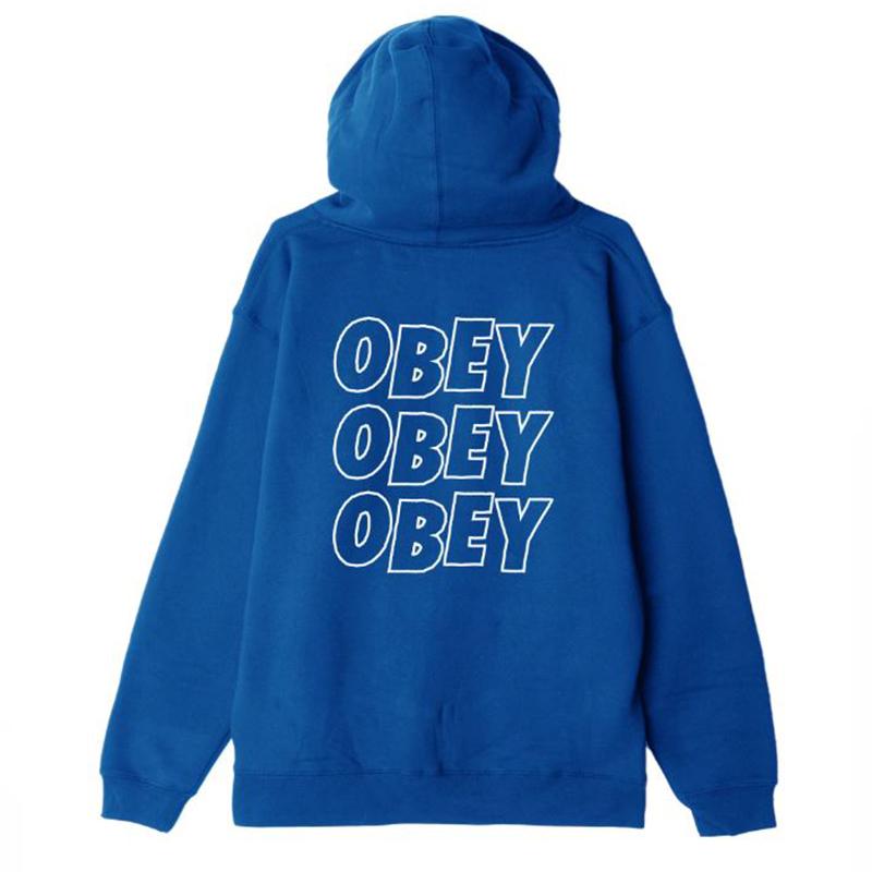 오베이 후드집업 OBEY JUMBLE LOFI 111751489 ROYAL BLUE