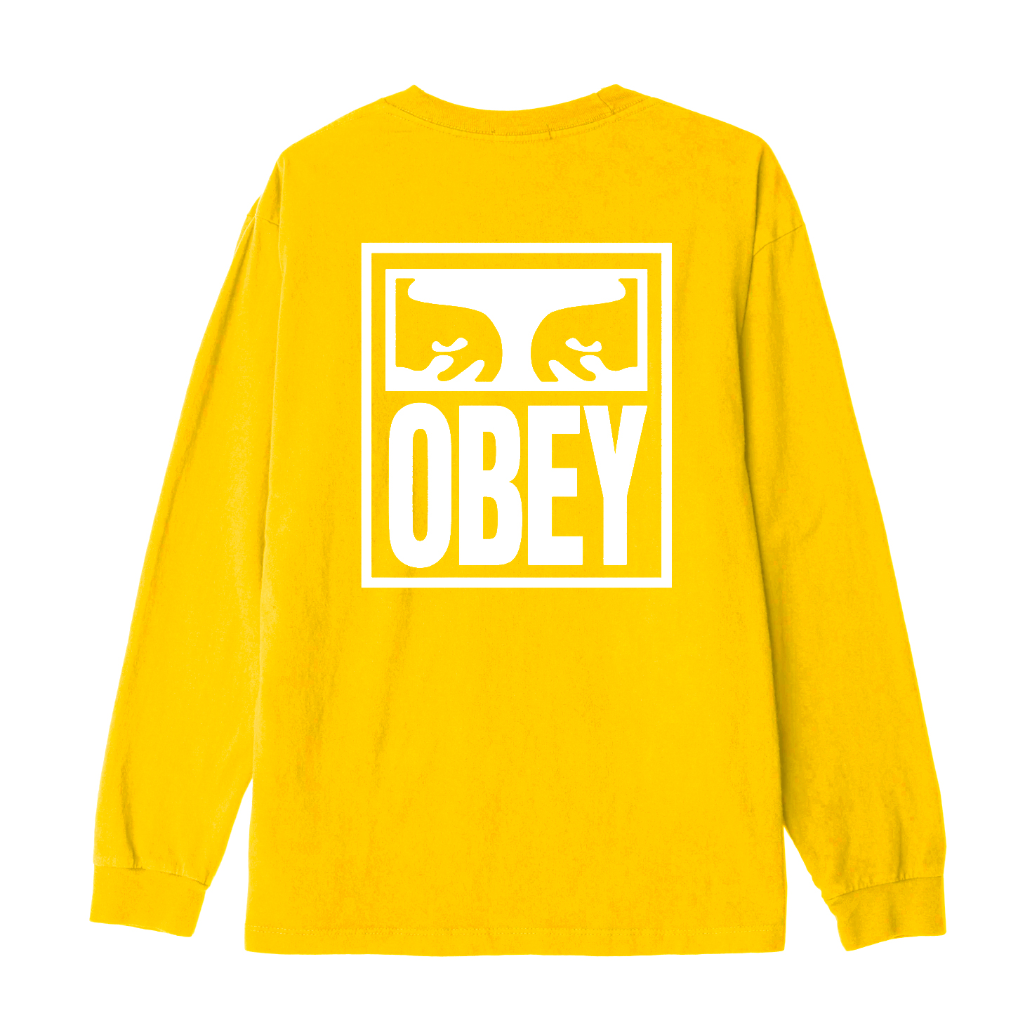 [단독할인]오베이 긴팔 OBEY EYES ICON 166731874 DUSTY BAKED YELLOW