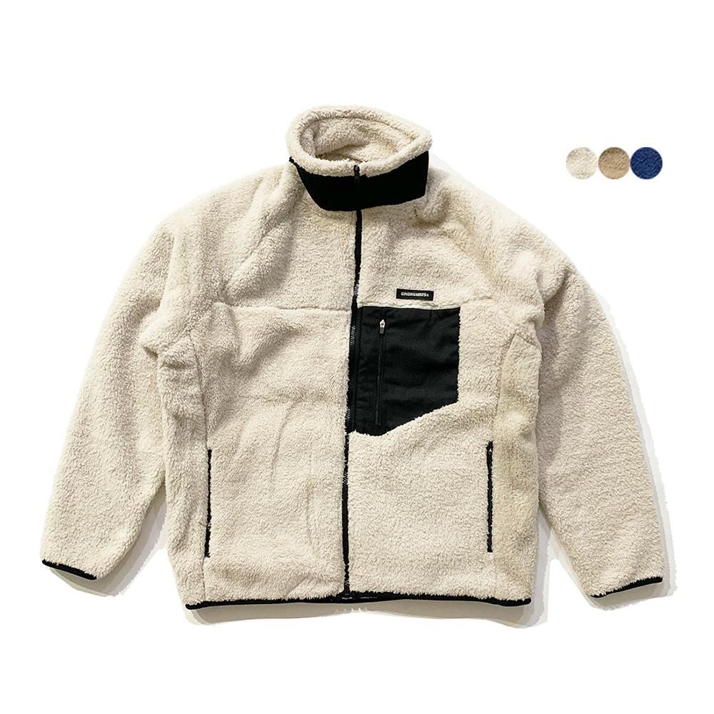 패치 시어링 플리스 재킷 PATCH SHEARLING FLEECE JACKET (3color)