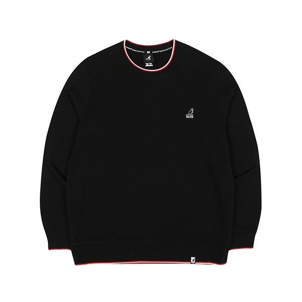 Lined rib Sweatshirt 1621 BLACK