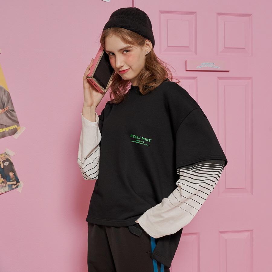 BM193WCAMT004 여성 프리사이즈 엑스트라 오버핏 셔츠 (블랙)