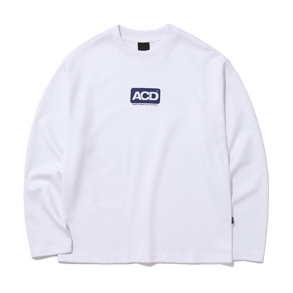 ACD SQUARE PRINT LONG SLEEVE (WHITE)
