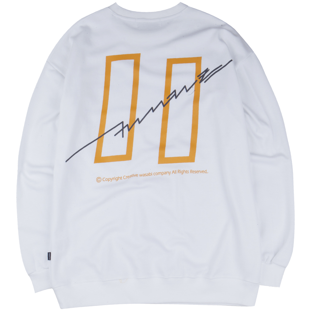 [COVERMENT] 19 Signature Graphic Over-Fit Swatshirts_White