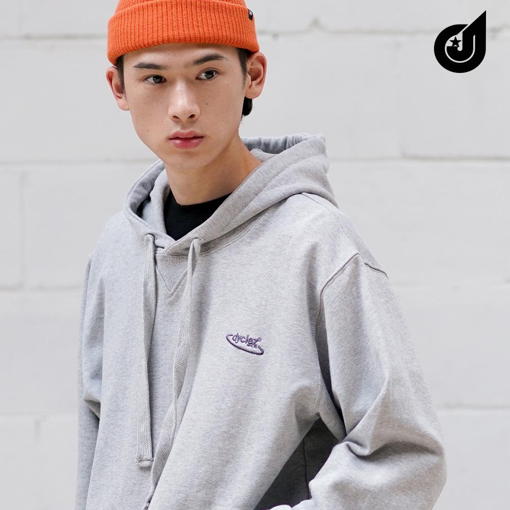 [다이클레즈] 포인트 로고 후드 회색 CHHD5076