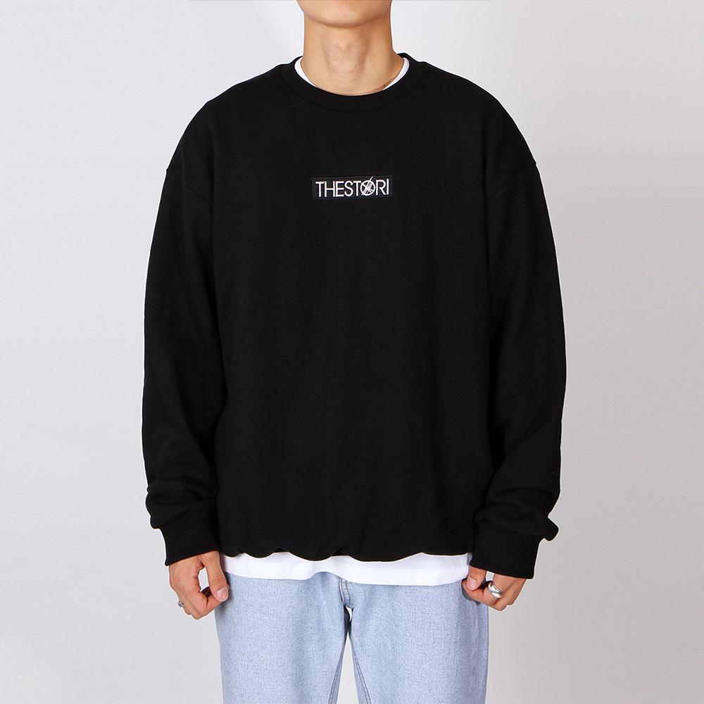 박스 로고 스웨트셔츠 (블랙)