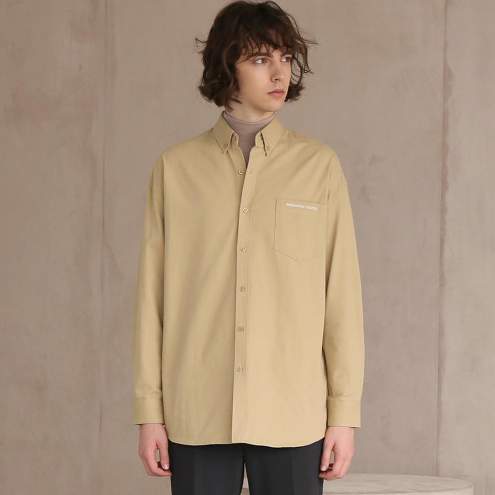 코튼 트윌 셔츠 #9 BEIGE