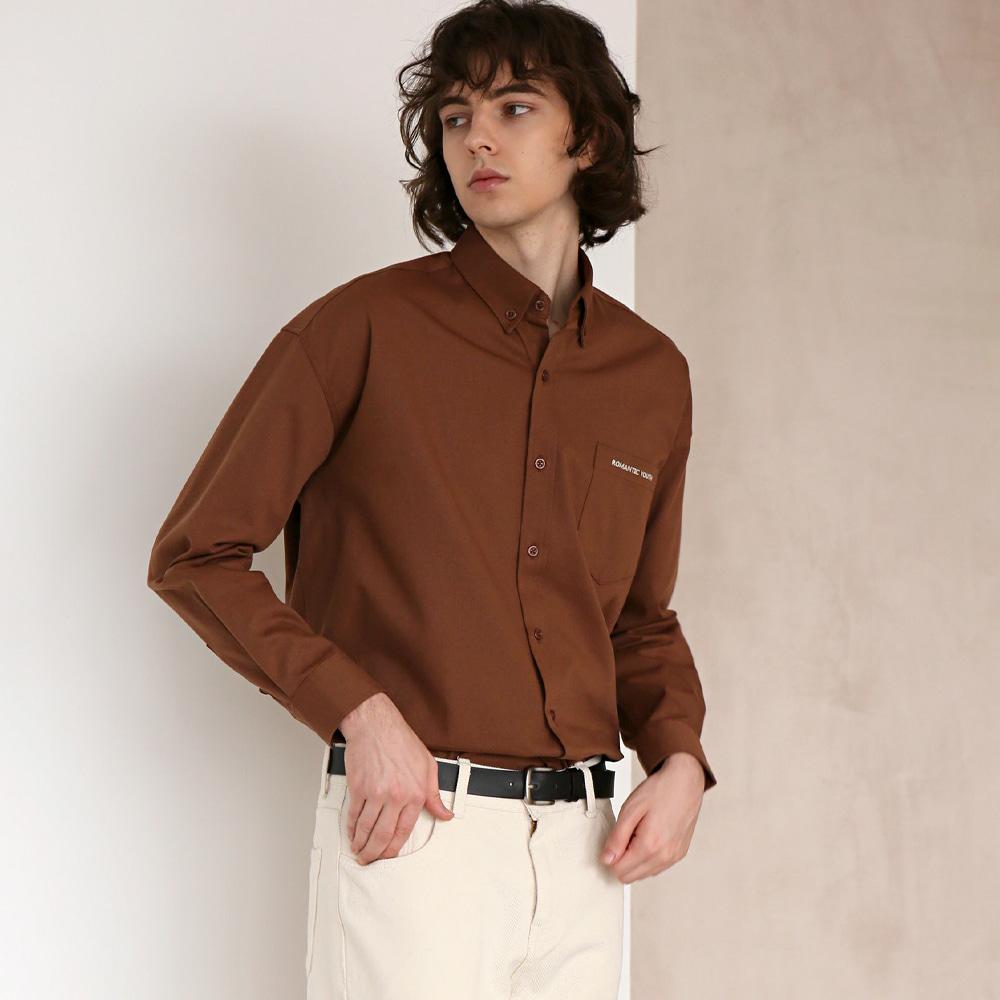 코튼 트윌 셔츠 #19 BROWN