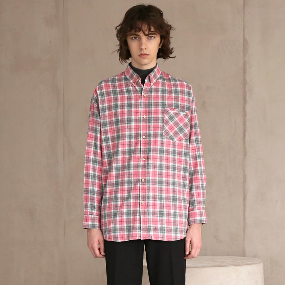 플란넬 체크 셔츠 #1 PINK
