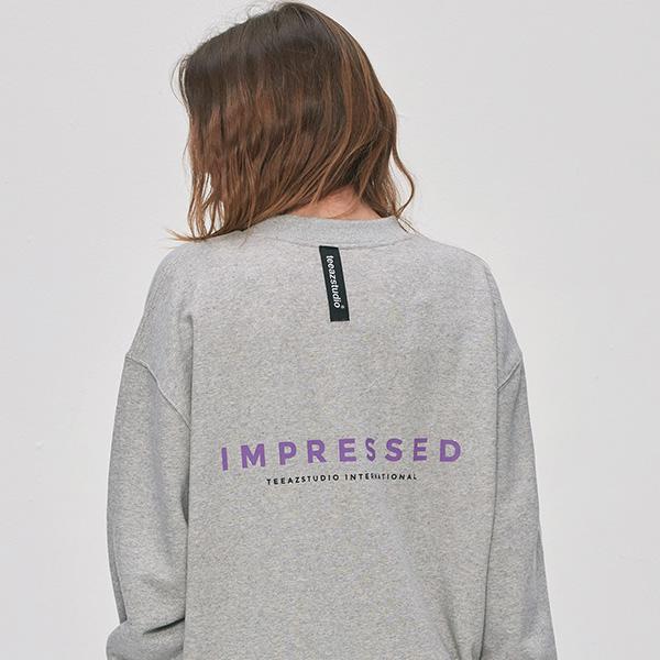 [UNISEX] 임프레스드 맨투맨 (멜란지)