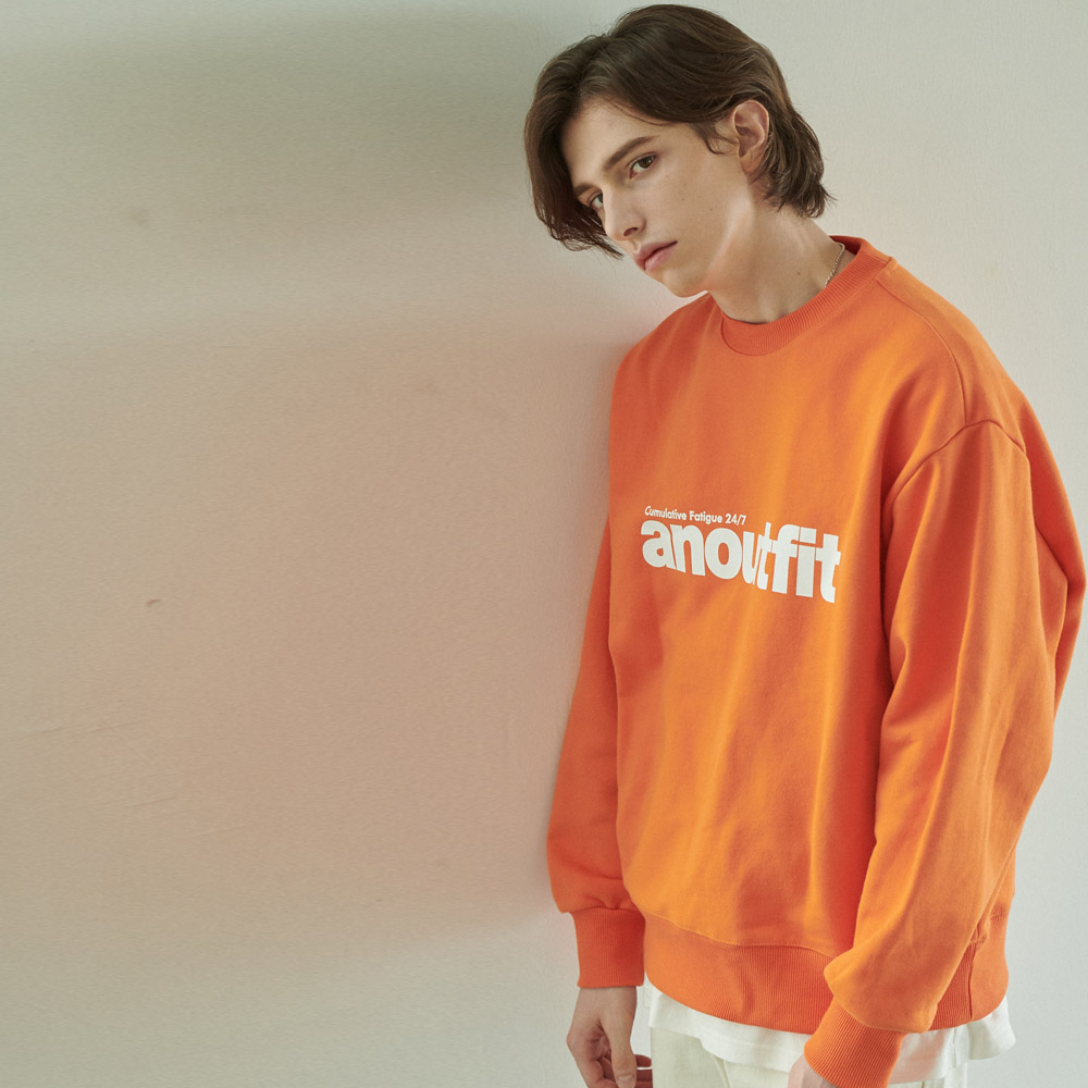 UNISEX SIGNATURE LOGO HEAVY SWEATSHIRT ORANGE