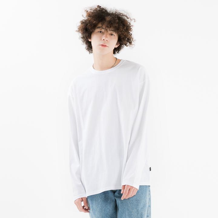 [minimal project] 미니멀프로젝트 피그먼트 워시드 오버핏 롱 슬리브 티셔츠 MLT105 [WHITE]