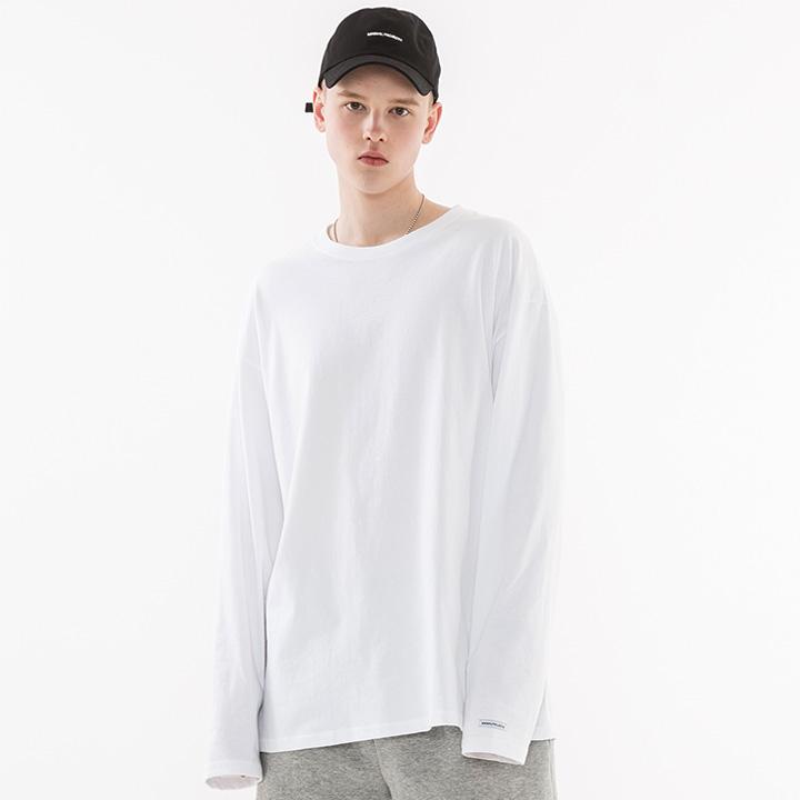 [minimal project] 미니멀프로젝트 오버핏 롱 슬리브 티셔츠 MLT101 [WHITE]