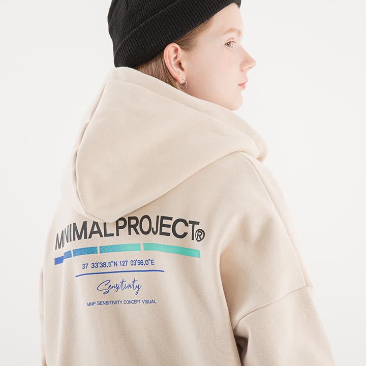 [minimal project] 미니멀프로젝트 그라데이션 스틱 오버핏 후드집업 MZT104 [CREAMBEIGE]