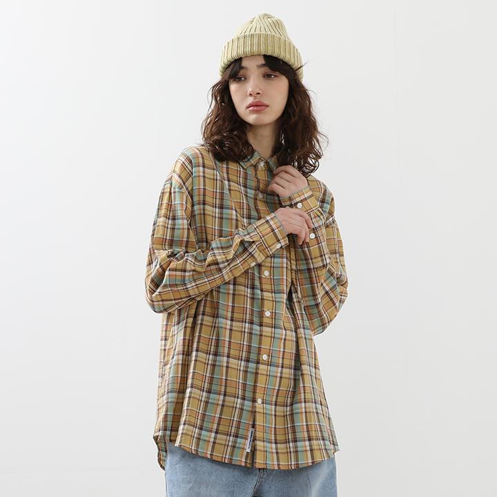 [minimal project] 미니멀프로젝트 오버핏 체크 셔츠 MLS207 [YELLOW]