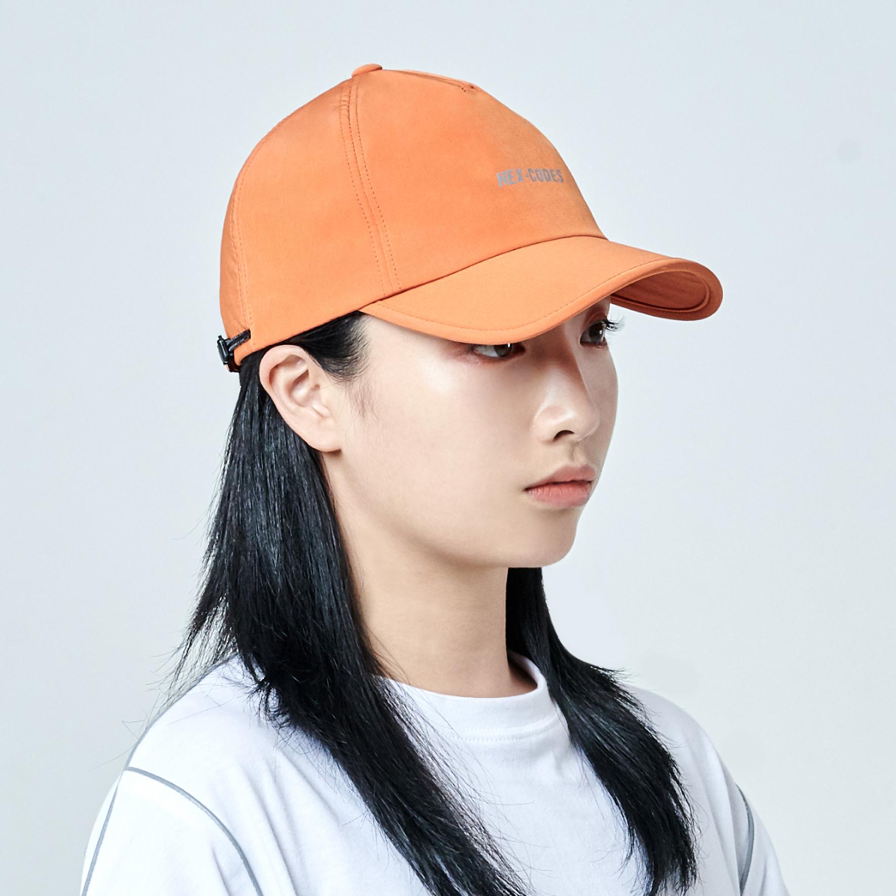 H04 PENTAGON CAP WITH 3M PRINTING - ORANGE 볼캡 모자