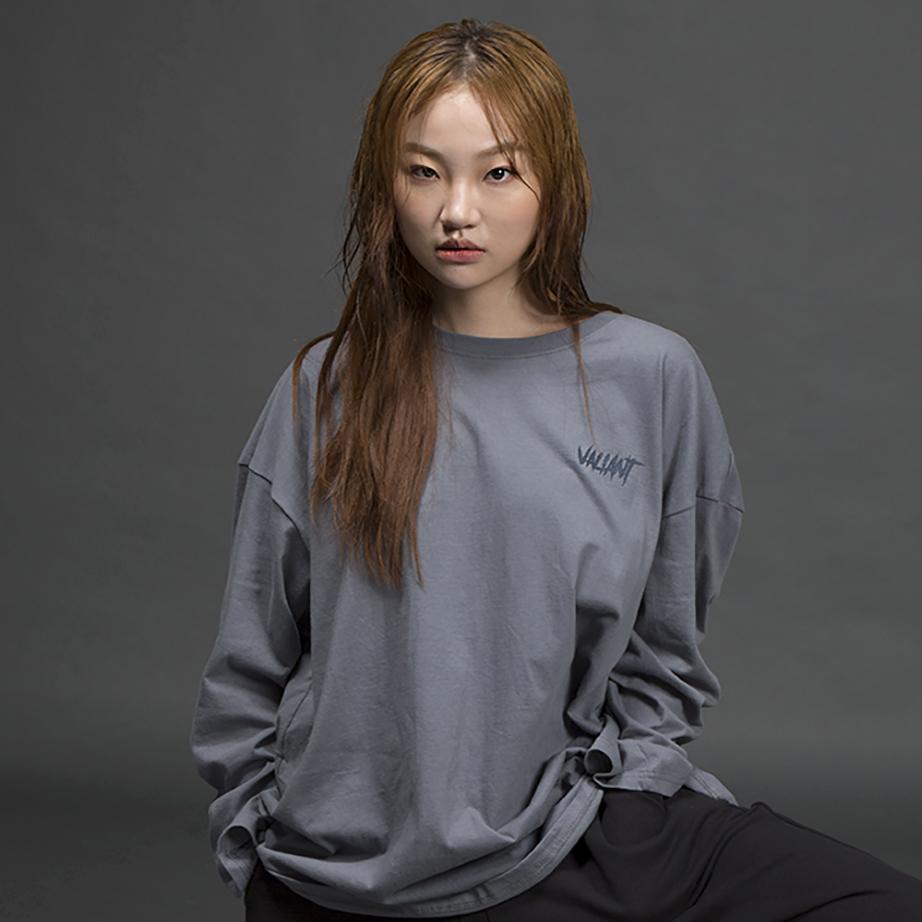 오버 브릭 티셔츠 [gray blue]