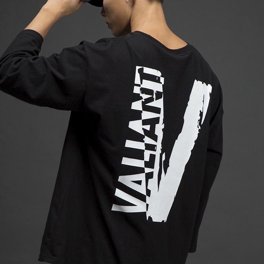 오버 네거티브 티셔츠 [black]