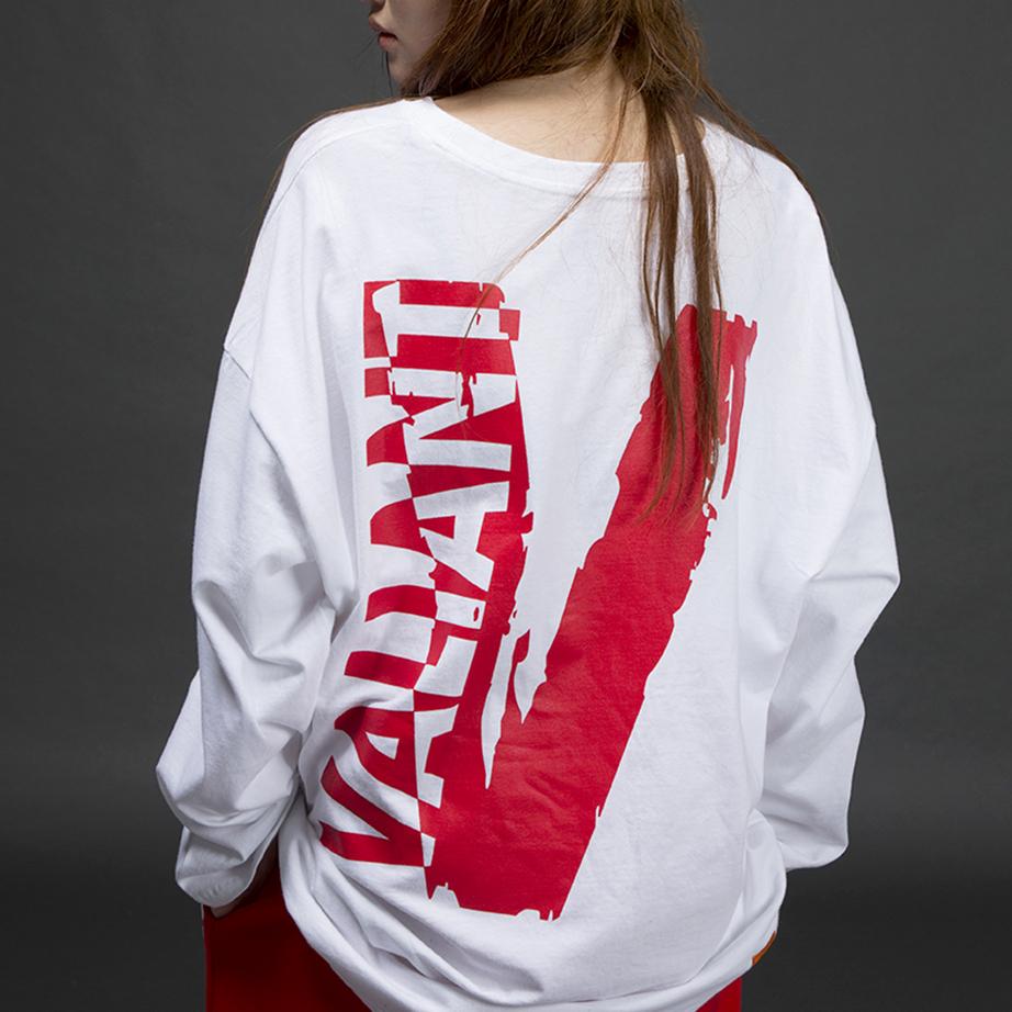 오버 네거티브 티셔츠 [white]