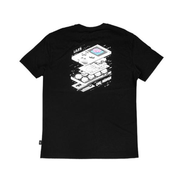 [LILKA] 블랙 에셋 티셔츠