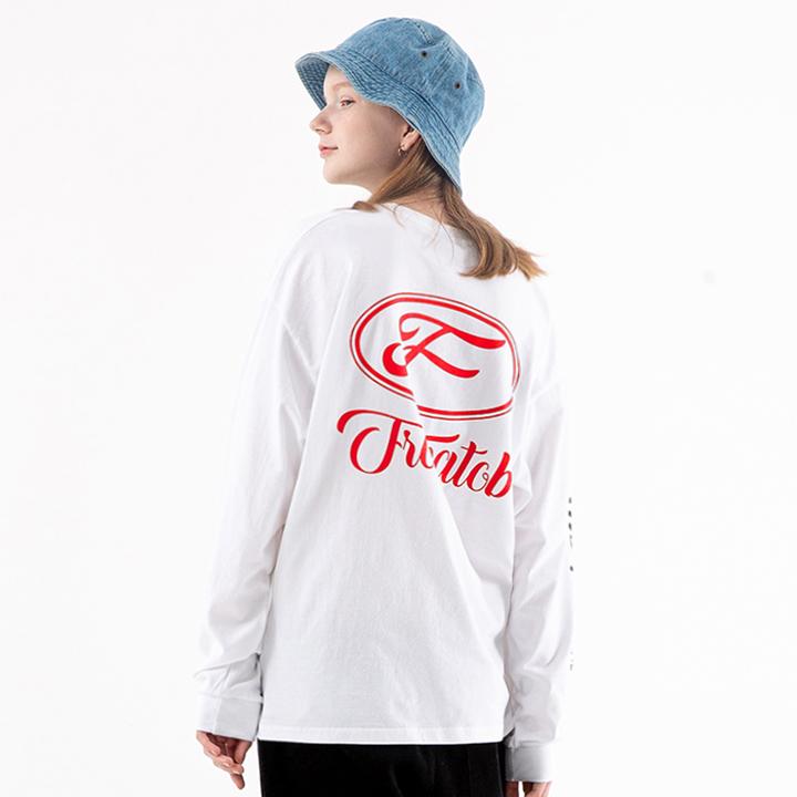 프롬에이투비 TOBLT102 디자인크루 메인알파벳 로고 롱 슬리브 티셔츠 / WHITE