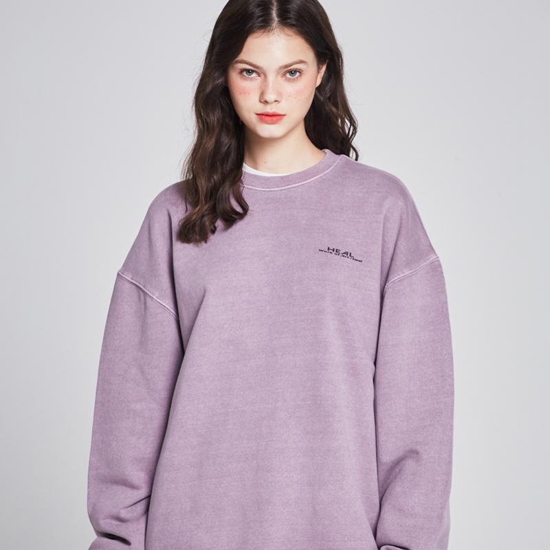 [단독할인][unisex] tie dye mtm (lavender)