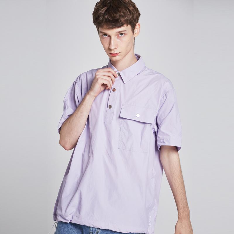 [단독할인][unisex] ripstop pique shirt (lavender)
