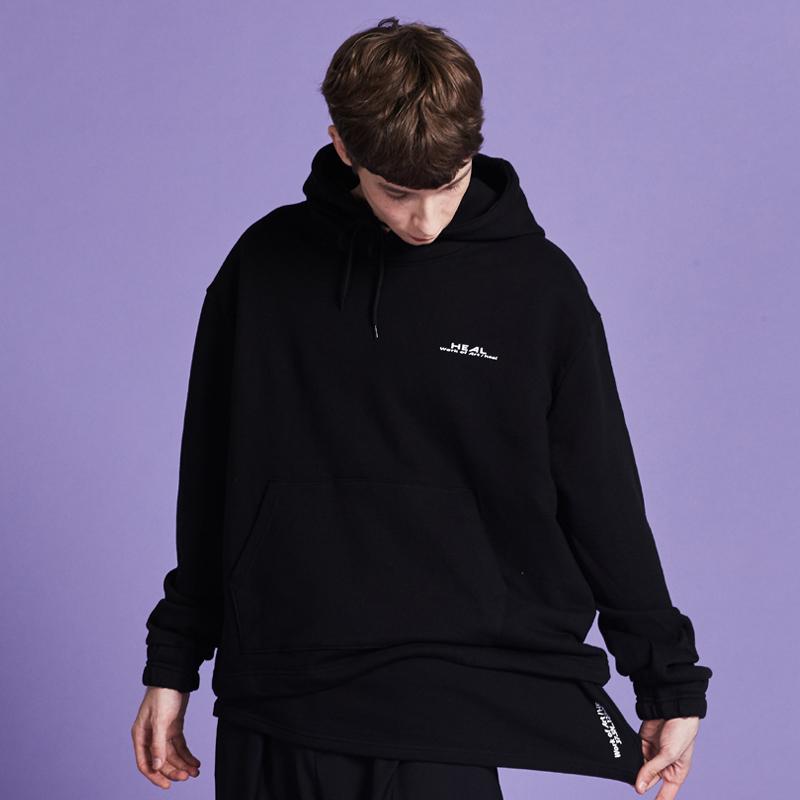 [단독할인][unisex] layered hoody (black)