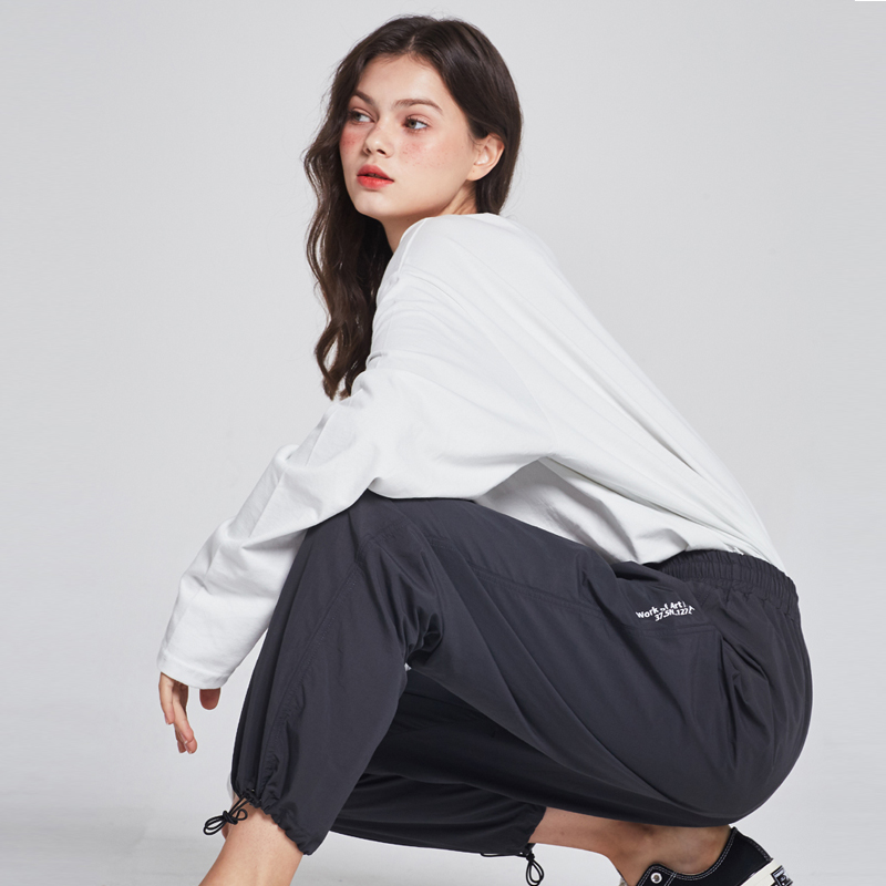[단독할인][unisex] ripstop string jogger  pants (charcoal)