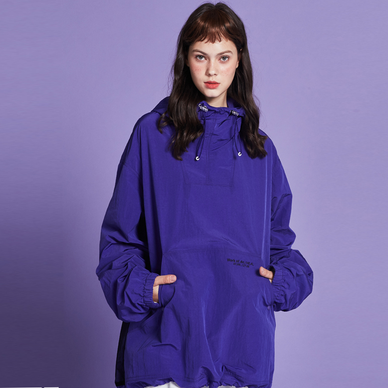 [단독할인][unisex] mesh anorak (metallic purple)