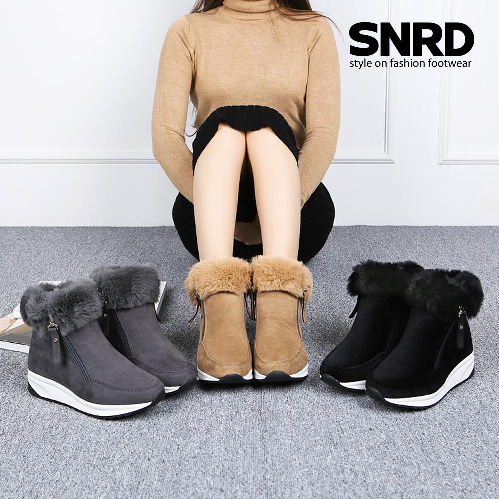 [SNRD] 겨울신발 털부츠 여성부츠 방한화 키높이 털신 SN522