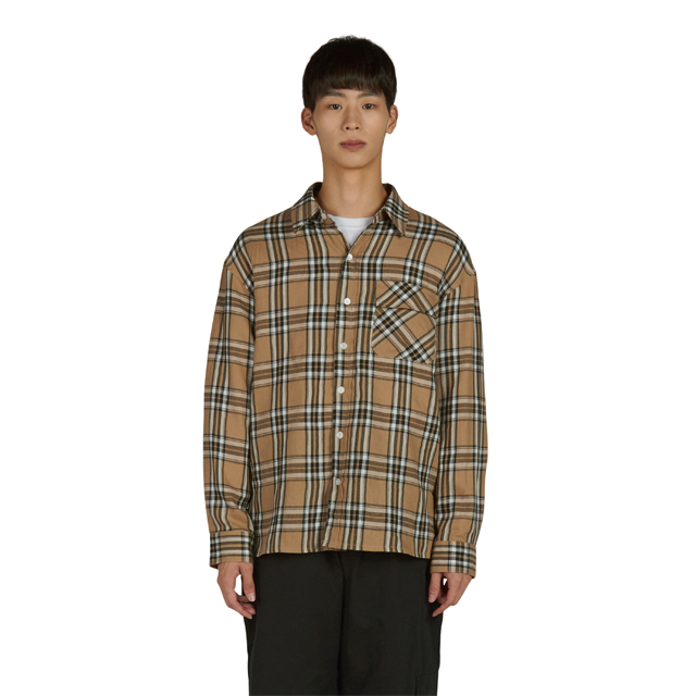 One Pocket Shirt - Beige