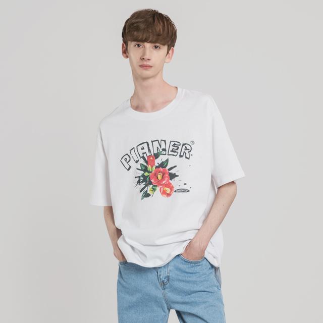 카멜리아 드로잉 티셔츠(WH)