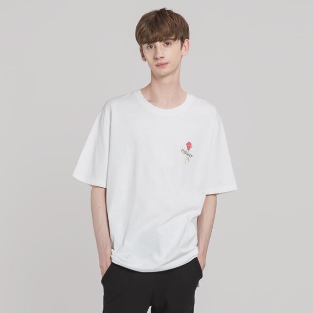 로즈 앤 로고 티셔츠(WH)