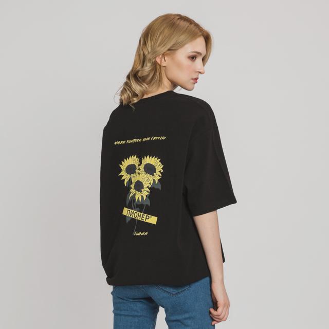 선플라워 로고 티셔츠