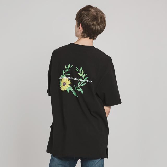 선플라워 크라운 티셔츠