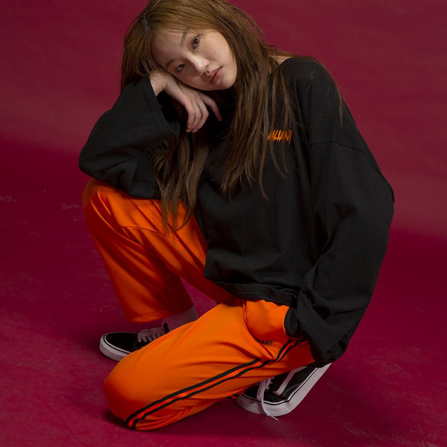 네온 테잎 트랙팬츠 [orange]