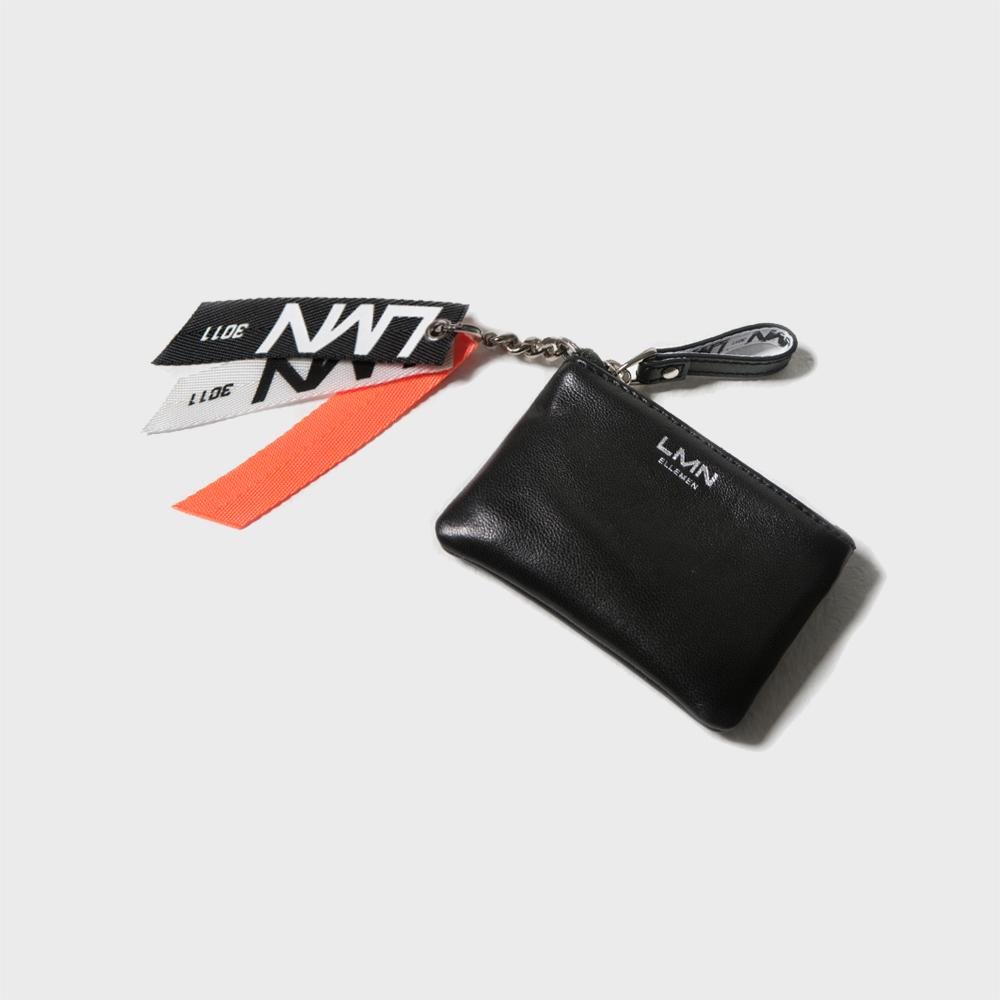 양가죽 포켓 지갑-블랙