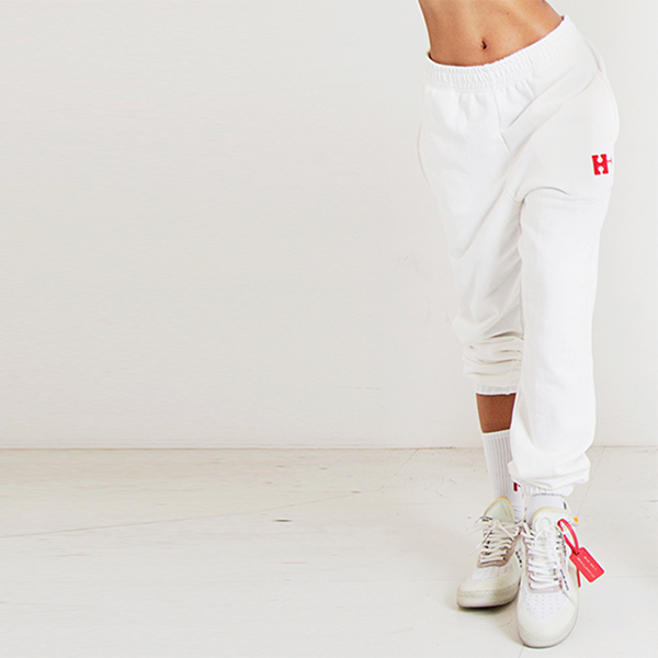H Emblem Logo Overfit Track Pants White