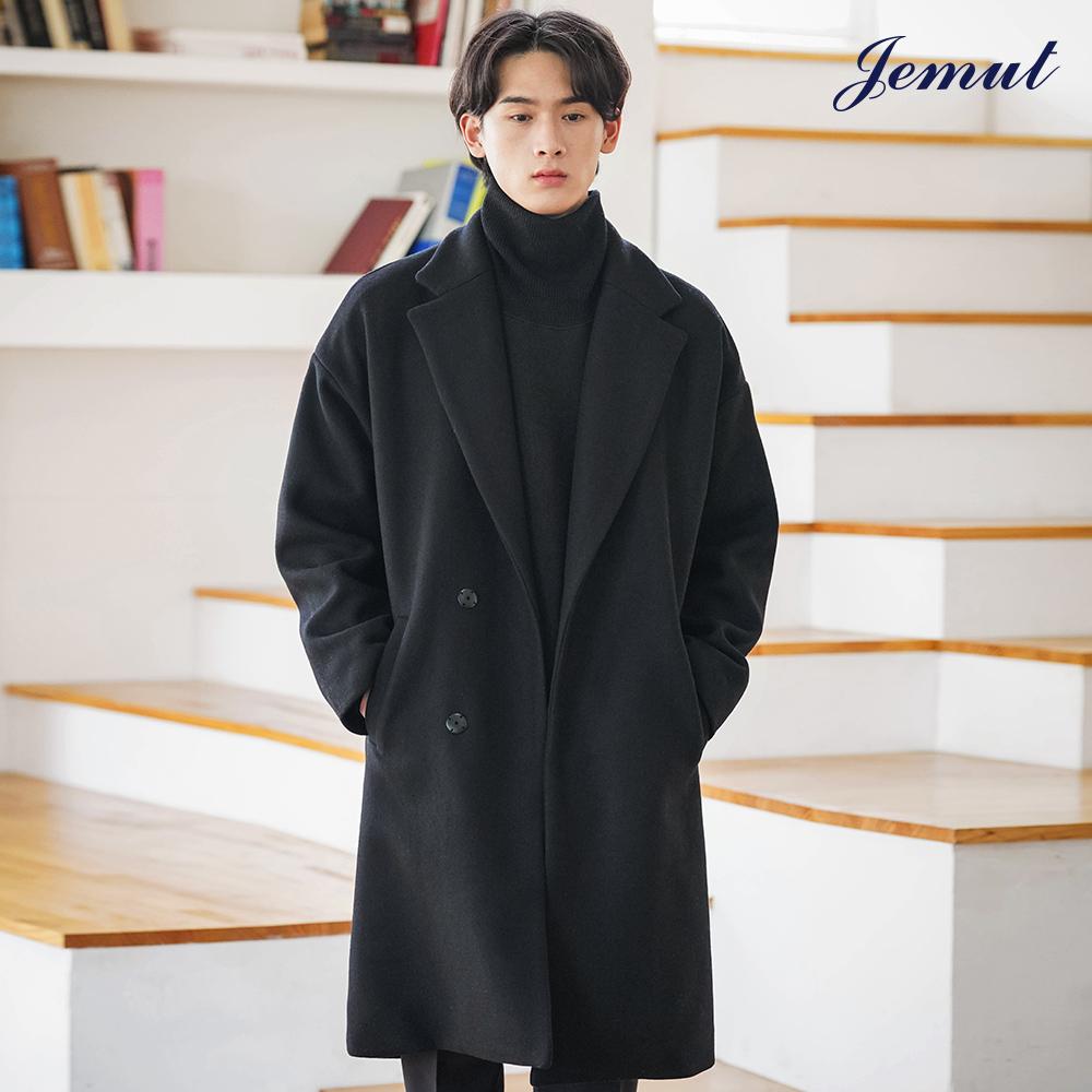 [제멋] 텐더 오버핏 울코트 블랙 HSCT2230