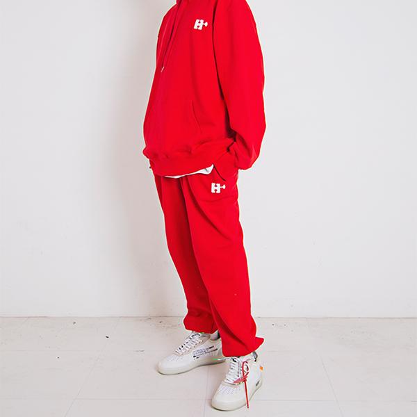 H Emblem Logo Overfit Track Pants Red